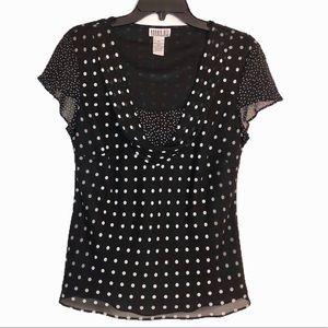 Robbie Bee size 10 polka dot blouse